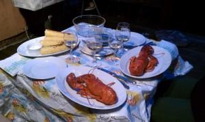 Lobster Dinner from Stuart's Seafood Shop, Amagansett, NY